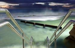 Bronte浴,在Bronte海滩悉尼的海洋水池 免版税库存照片
