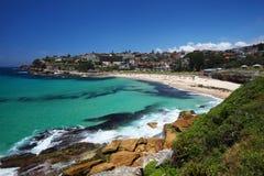 Пляж Bronte в Сиднее, Австралии Стоковое фото RF