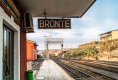 Πόλη της Bronte, Σικελία, Ιταλία Στοκ φωτογραφία με δικαίωμα ελεύθερης χρήσης