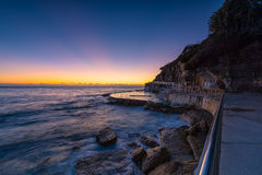Bronte Beach at sunrise. In Bronte Sydney Australia Stock Photos