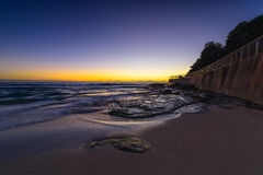 Bronte Beach at sunrise. In Bronte Sydney Australia Stock Images