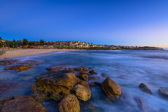 Bronte Beach at sunrise. In Bronte Sydney Australia Stock Image
