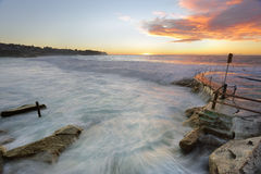 Bronte Beach at sunrise Stock Images