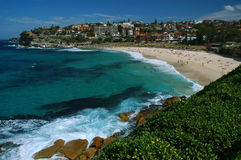 Bronte beach in Sydney. People have a rest on Synday day on the Bronte beach, Sydney, Australia stock images
