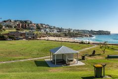 Bronte Park and Beach with view of North Shore, Sydney Australia