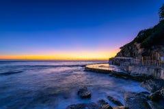 Bronte plaża przy wschodem słońca zdjęcie royalty free
