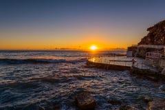 Bronte plaża przy wschodem słońca Sydney Australia obraz royalty free