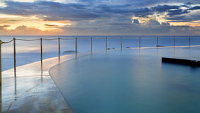 Bronte Pool at sunrise Stock Photo