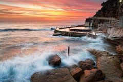Bronte rockpool Royalty Free Stock Images