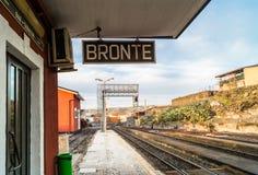 Bronte stad, Sicilien, Italien Royaltyfri Fotografi
