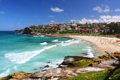 Bronte strand i Sydney, Australien Royaltyfri Fotografi
