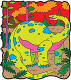 brontosaur恐龙 库存例证