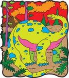 brontosaur恐龙 免版税库存照片