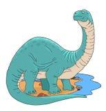 brontosaurus stock illustratie