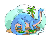 brontosaurus vector illustratie