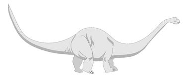Brontosaurus royalty free stock images