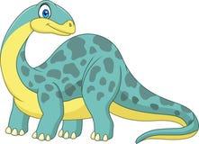 Brontosaurus de sorriso dos desenhos animados Imagem de Stock Royalty Free
