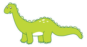 Brontosaurus do dinossauro Imagem de Stock Royalty Free