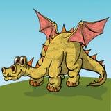 Brontosaurus met vleugelsposuschiysya vreedzaam  royalty-vrije illustratie