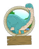 Brontosaurus. Mighty brontosaurus stares into the distance Stock Image