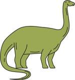Brontosaurus Mono Line Royalty Free Stock Photos