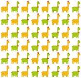 Brontosaurus naadloos patroon op witte achtergrond vector illustratie