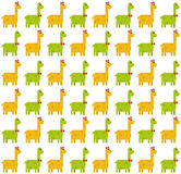 Brontosaurus seamless pattern on white background. Seamless pattern made by green male and yellow female dinosaurs - brontosaurus & x28;thunder lizard& x29; on Royalty Free Stock Photos