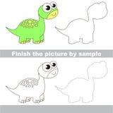 brontosaurus Tekeningsaantekenvel stock illustratie