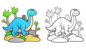 Brontosaurus voor een gang vector illustratie