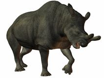 Brontotherium-3D Dinosaur Royalty Free Stock Photography