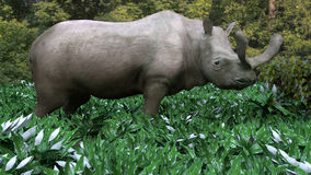 Brontotherium Grazing Royalty Free Stock Photography