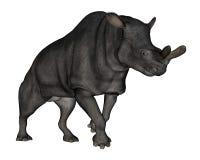 Brontotherium or megacerops dinosaur walking - 3D Stock Photography