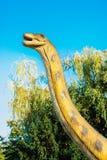 Brontozaur w Novi Sad Dino parku zdjęcia stock