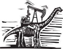 Brontozaura szybu naftowego pompa Fotografia Royalty Free