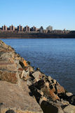 The Bronx. View of The Bronx, New York from New Jersey across the Hudson River stock images