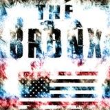 Bronx city art. Street graphic style USA. Fashion stylish print. Template apparel, card, label, poster. emblem, t-shirt stamp graphics. Handwritten banner stock illustration