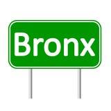 Bronx green road sign. Stock Image