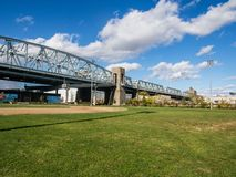 Bronx Kill Bridge. In New York stock photography