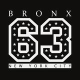 Bronx, New York. Design clothes, t-shirts. Vector illustration. Bronx, New York. Design clothes, t-shirts. Sports graphics with number for apparel. Vector Stock Photo
