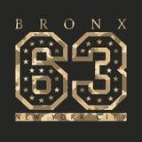 Bronx, New York Ontwerpkleren met camouflage, t-shirts sporten vector illustratie