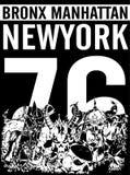 Bronx New York sport typography; t-shirt graphics; vectors Royalty Free Stock Photography