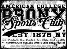 Bronx New York sport typography; t-shirt graphics; vectors Royalty Free Stock Image