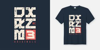 Bronx New York textured t-shirt and apparel design, typography,. Print, vector illustration. Global swatches Royalty Free Stock Photography