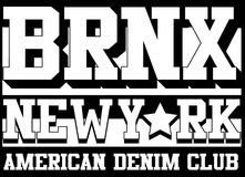 Bronx New york typography, t-shirt graphics, vectors Stock Photography