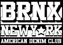 Bronx New york typography, t-shirt graphics, vectors Stock Photography