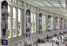 Bronx, NY - June 13: Yankee Promenade. Bronx, NY - June 13: A view of the impressive promenade in the new billion dollar Yankee Stadium, home of the major league royalty free stock image