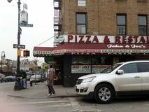 Bronx, NY-Pizzeria stockfotos