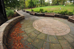 Bronx Park. Beautiful walkway in a New York City / Bronx park stock image