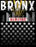 Bronx print Tee graphic design. Fashion style Royalty Free Stock Images
