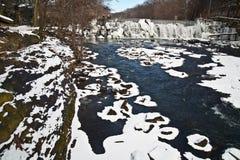 Bronx River im Schnee, New York City Lizenzfreie Stockbilder